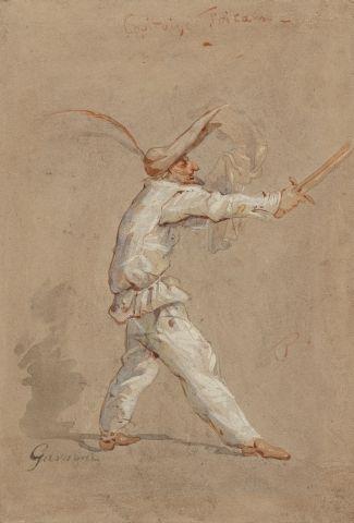 Paul GAVARNI (Paris 1804 – 1866) Capitaine...
