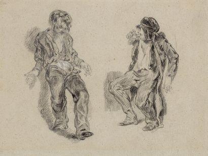 Attribué à Paul GAVARNI (Paris 1804 – 1866)...