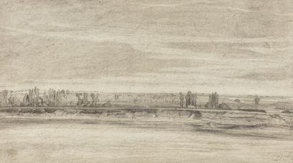 Ecole française du XIXème siècle Paysage...