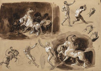François Hippolyte LALAISSE (Nancy 1812 – Paris 1884) Un album comprenant 45 dessins...