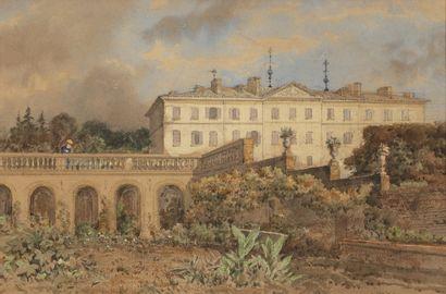 Ecole française du XIXème siècle Vue d'un...