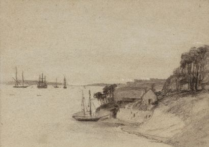 Attribué à Eugène BOUDIN (Honfleur 1824 –...