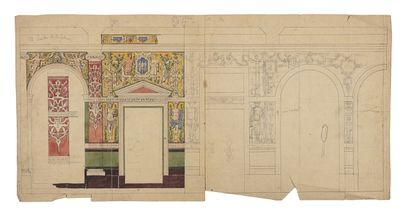 École du XIXème siècle Projet pour un décor...