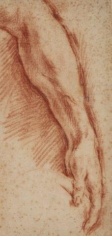 Ecole italienne du XVIIème siècle Etude d'avant-bras,...