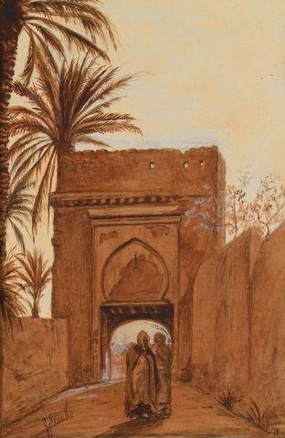Ecole orientaliste du XIXème siècle Une paire...