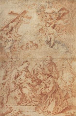 Ecole espagnole du XVIIème siècle L'apparition...