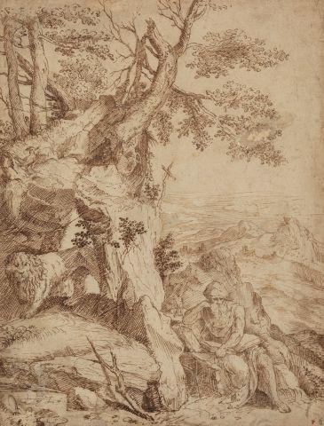 Entourage de Cornelis CORT Saint Jérôme dans...