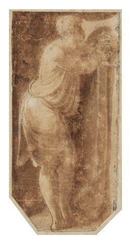 Ecole italienne du XVIème siècle Etude d'homme...
