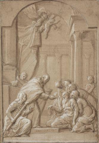 Ecole française du XVIIème siècle La communion...