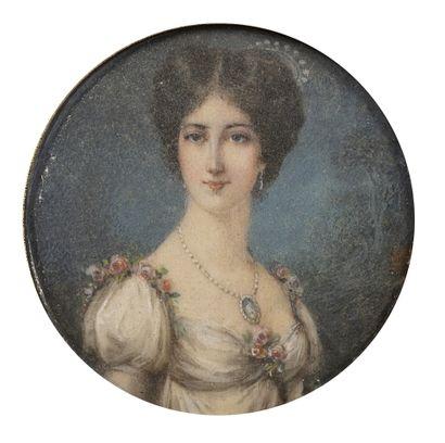 Ecole française de la fin du XVIIème siècle Portrait d'homme à la perruque Gouache...