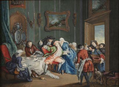 Ecole française du XVIIIème siècle Monsieur...