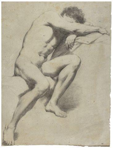 Ecole italienne du XVIIIème Académie d'homme...