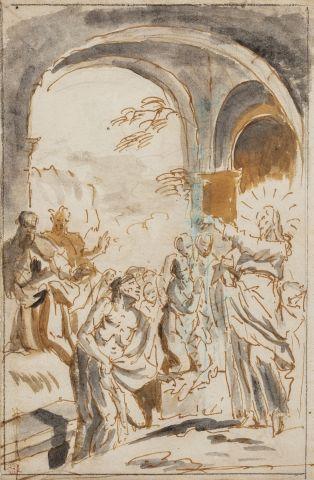 Ecole italienne du XVIIIème siècle Le Christ...