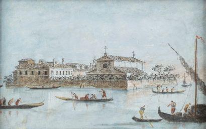 Giacomo GUARDI (Venise 1764 - 1835) Une paire...