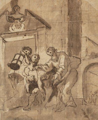 Ecole italienne du XVIIème siècle La translation...