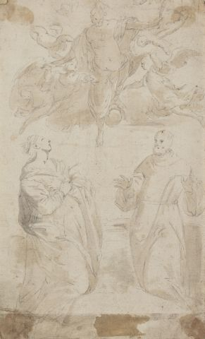 Ecole italienne du XVIIème siècle Ascension...