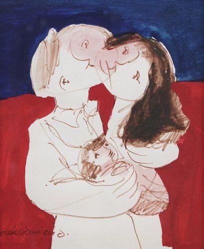 Laure DANIANO  Couple avec un enfant  Technique...