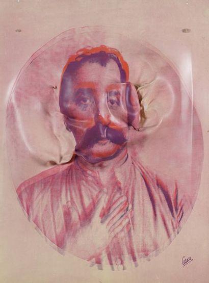 CESAR (1912-1998)  Autoportrait  Transfert...