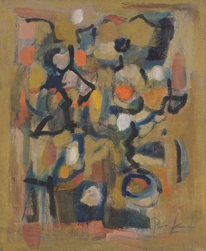 Bill PARKER (1922-2009)  Abstraction  Huile...