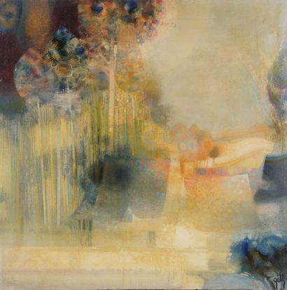 Daniel GÉLIS (Né en 1942)  Abstraction  80...
