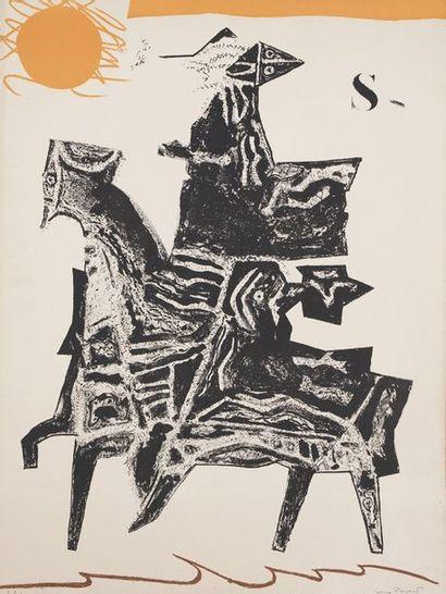 Max PAPART (1911-1994)  Lot de 4 lithographies...