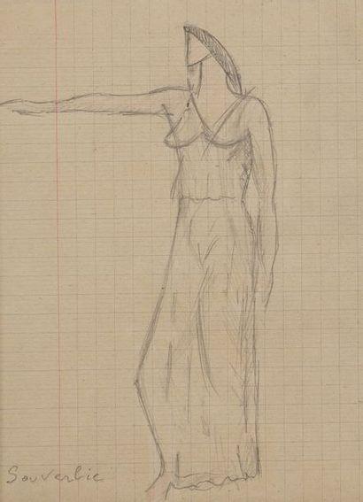 Jean SOUVERBIE (1891-1981)  Figure mythologique...