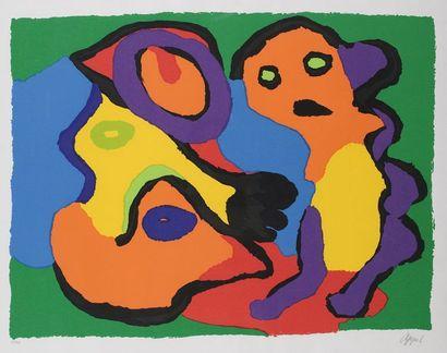 Karel APPEL (1921-2006)  Lithographie  Personnages...