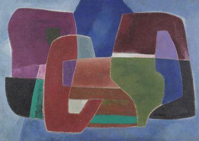 Francis MONTANIER (1895-1974)  Volumes  Huile...