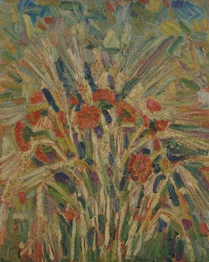 Gérard REGNIER (1940-)  Bouquet de fleurs...