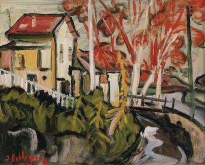 Jacques PELLEGRIN (1944-)  Le moulin  Huile...