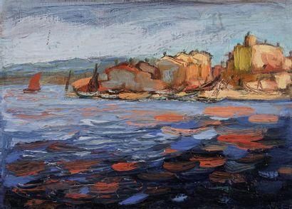 Jacques PELLEGRIN (1944-)  Paysage  Huile...
