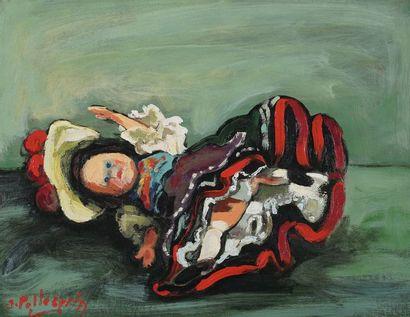 Jacques PELLEGRIN (1944-)  La poupée  Huile...