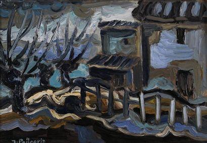 Jacques PELLEGRIN (1944-)  Le mas  Huile...