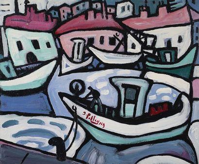 Jacques PELLEGRIN (1944-)  Port de pêche...