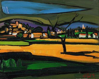 Jacques PELLEGRIN (1944-)   Paysage en Provence...
