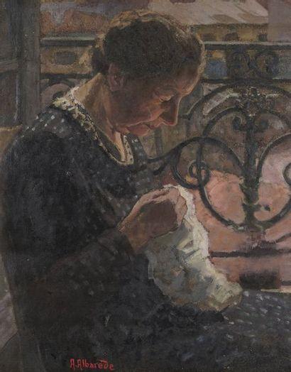André René ALBAREDE (XIX ème - XX ème)  Femme...