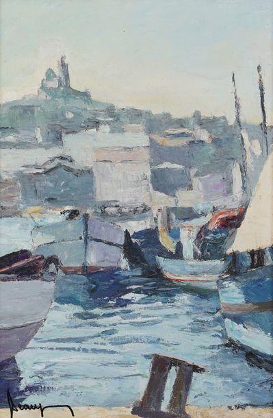 BEAUJEAN (XX ème)  Le port de Marseille  ...