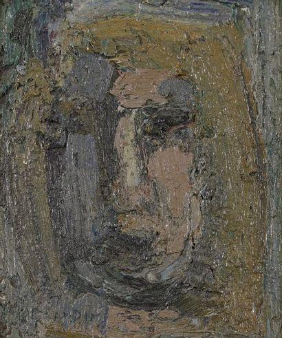 Richard MANDIN (1909-2002)  Visage  Huile...