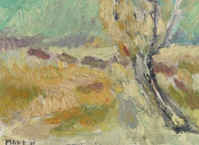 Richard MANDIN (1909-2002)  Paysage  Huile...