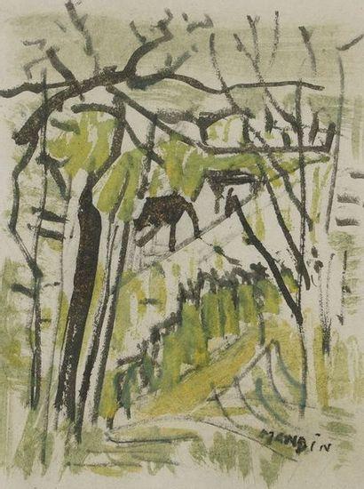 Richard MANDIN (1909-2002)  Paysages  Lot...