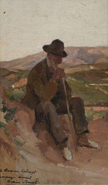 Marius BARRET (1865-1929)  Le repos du berger...