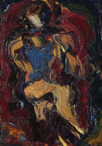 Antoine FERRARI (1910-1995)  Femme au fauteuil...