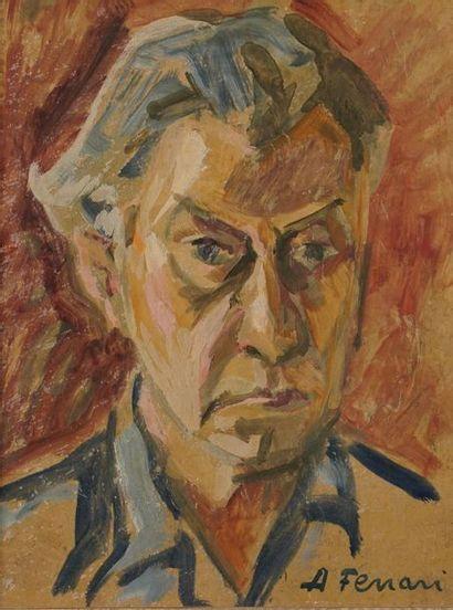 Antoine FERRARI (1910-1995)  Portrait  Huile...