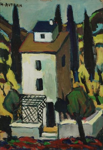 Henri AUTRAN (1926-2007)  Village  Huile...