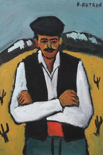 Henri AUTRAN (1926-2007)  Portrait d'homme...