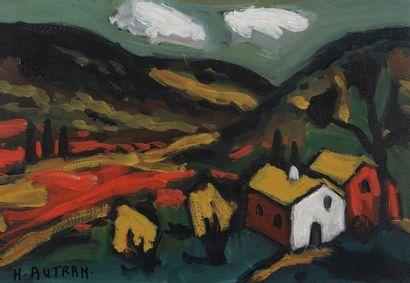 Henri AUTRAN (1926-2007)  Paysage  Huile...