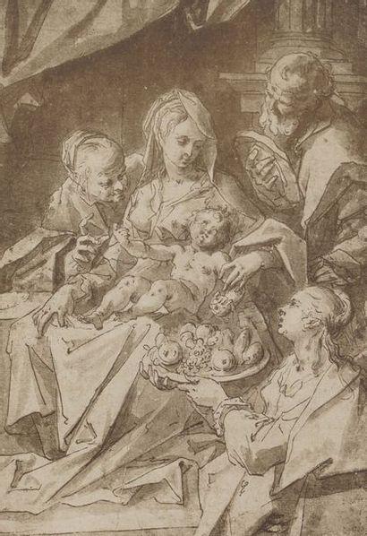 Sainte Famille  Estampe  27 × 19 cm