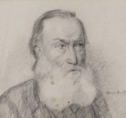 Alphonse MOUTTE (1840-1913)  Autoportrait...