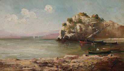 Joseph FAUST (1868-1934)  Aux environs de...