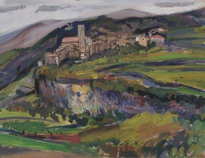 Antoine SERRA (1908-1995)  Village provençal...